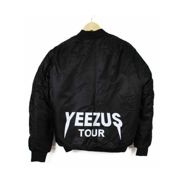 Yeezus Tour Jacket MA 1 Flight Bomber supreme Size (S) NEW ❤ liked on Polyvore featuring outerwear, jackets, tops, bomber style jacket and bomber jacket
