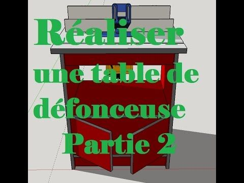 Defonceuse sous table - PARTIE 2 - Triton - router table - YouTube