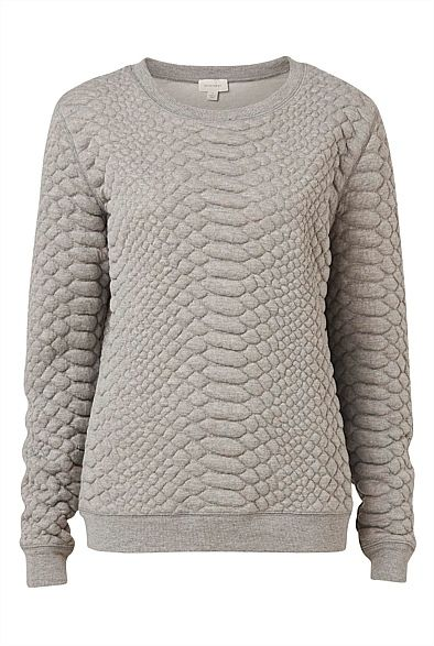 Croc Textured Sweat