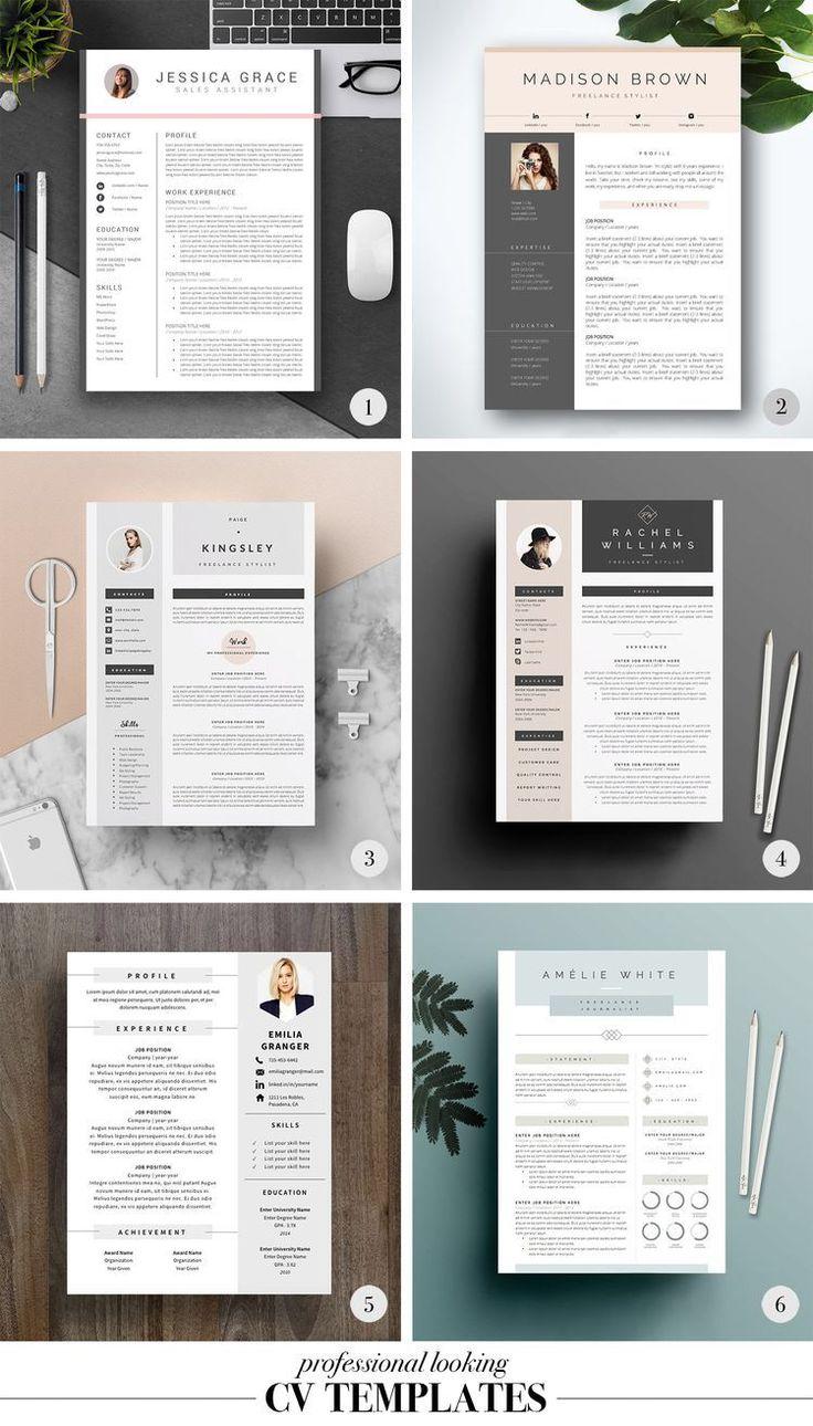 professional easy to edit resume    cv design