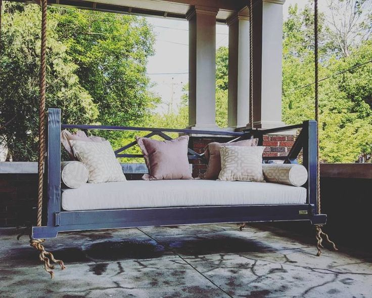 25 Unique Outdoor Swing Cushions Ideas On Pinterest: 25+ Best Ideas About Hanging Porch Bed On Pinterest