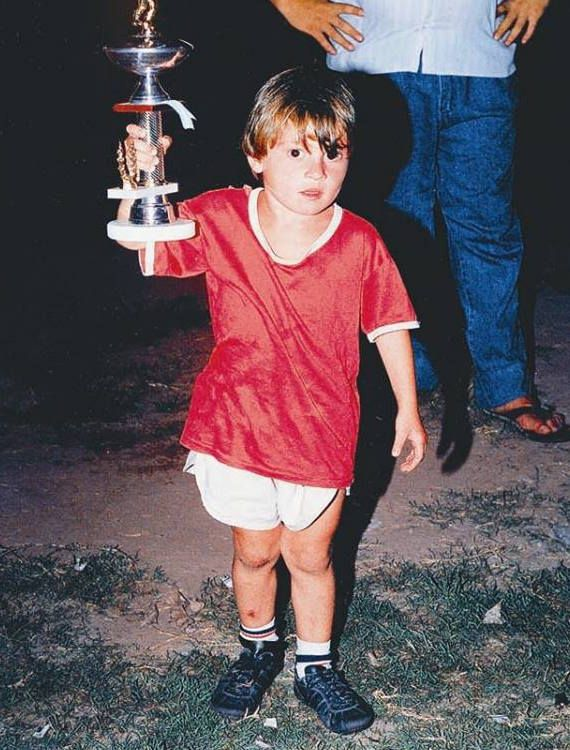 Lionel Messi as a kid