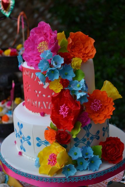 Mexican Inspired Wedding Cake