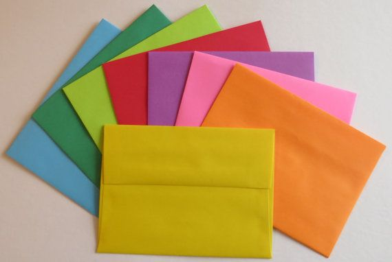 PE29  25 pc. Color Envelopes A6 60 lb. 4 3/4 x 6 by ClearbagsRUs, $3.49
