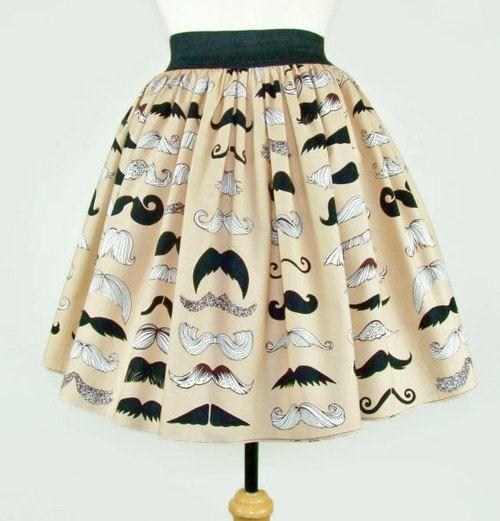 mustache skirt
