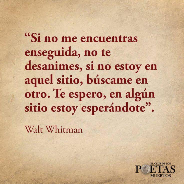 Walt Whitman...