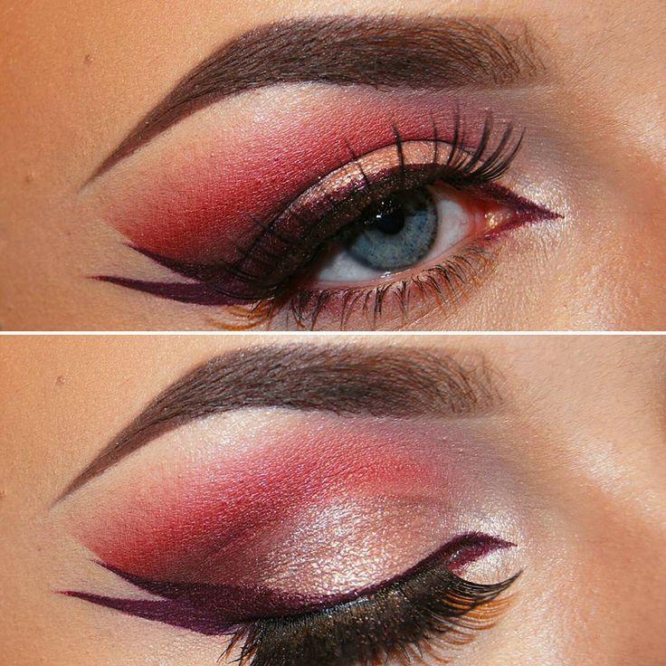 Double vinged liner💜💘 Foundation- @makeupforeverofficial #ultraHDfoundation  Brows- @anastasiabeverlyhills #dipbrowchockolate  Eyes- H&M, @urbandecaycosmetics #gwenstefanipalette 'punk' and 'pop' Eyeliner- @inglotnorge #liquidlipstick  Lips- maxfactor lipstick in 'burnt caramel' Contour- @katvondbeauty #shadeandlightpalette  Blush- @thebalm_cosmetics #instainblush in 'argyle' Highlight- @anastasiabeverlyhills #gleamglowkit in 'starburst'  #makeup #makeupartistry #tutorial…