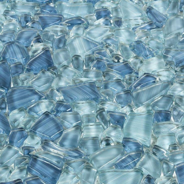 Paradise Bay Pebble Glass Mosaic in 2020 Mosaic glass