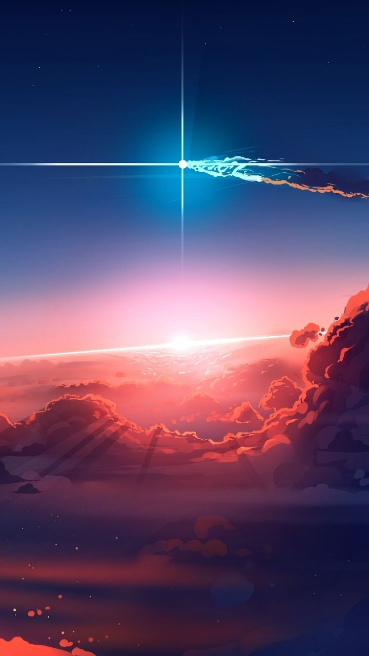 720x1280 Clouds Sky Anime Wallpaper Sky Anime Galaxy Phone Wallpaper Cool Anime Pictures Anime sky wallpaper android
