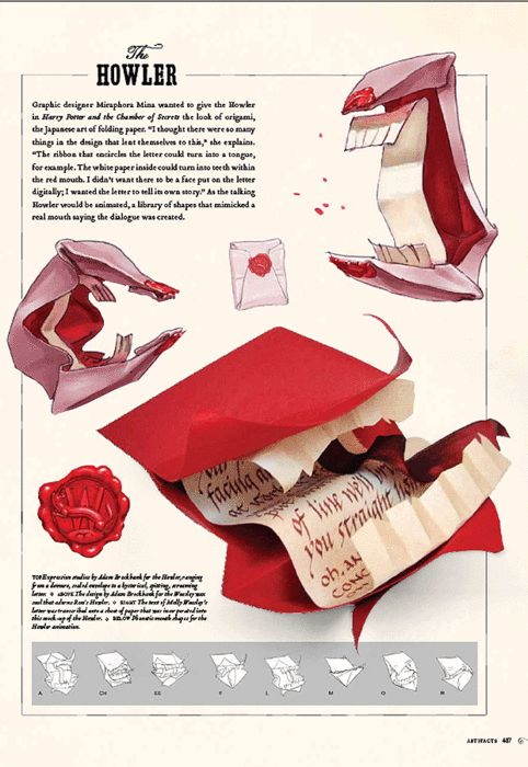 Howler design schematic    http://everythingharrypotter.tumblr.com/post/11940824908/source-the-telegraph