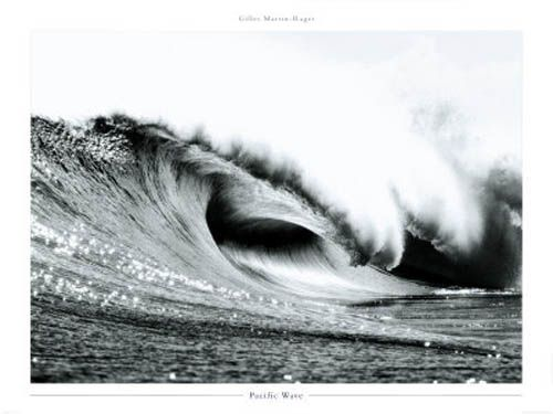 Pacific wave surfing poster print photography by gilles martin raget available at www black wall artwhite