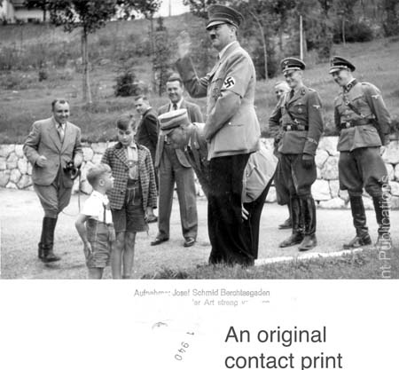 Hitler with children at the Berghof