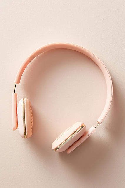 Pink Headphones! Anthropologie Wireless Headphones #anthropologie #anthrofave #anthrohome #pink #headphones #giftsforher #ad