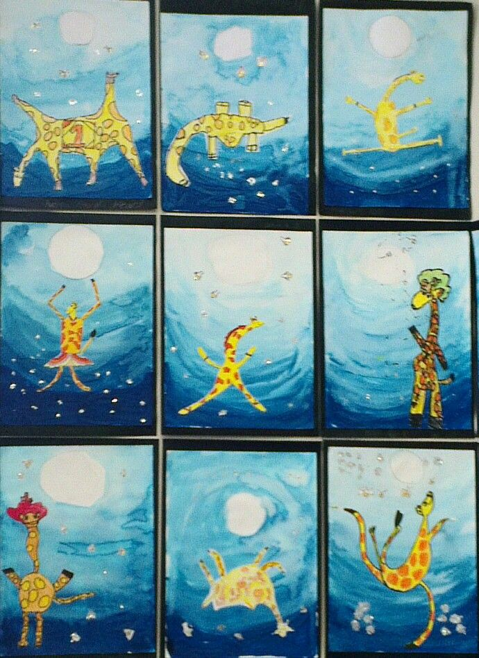 Inspired by the book, 'Giraffes can't Dance' | Primary ...