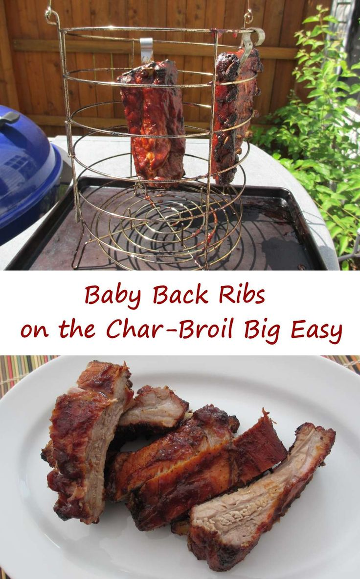 Check Out Baby Back Ribs On The Char Broil Big Easy It 39 S