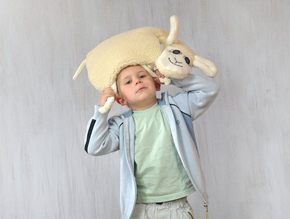 Sheep Lamb Pillow Kids Room Decor Country House by Florfanka