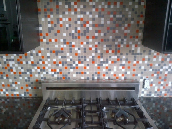 Kool Kitchen W Our Brio Atomic Ranch MidCentury Glass Mosaic Tile Backsplash