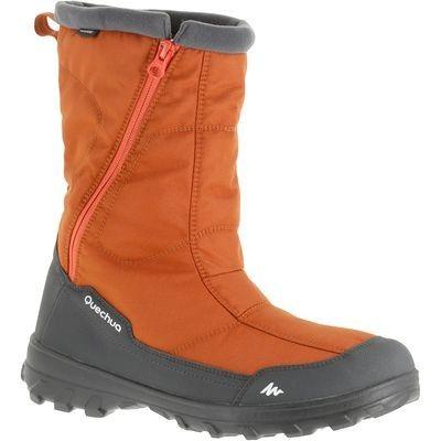 Scarpe escursionismo Montagna, Escursionismo - Doposci montagna uomo ARPENAZ 500 WARM arancioni QUECHUA - Scarpe Montagna