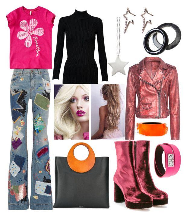 """Barbie Inspired Outfit"" by hellenrose7292 on Polyvore featuring Roberto Cavalli, Alaïa, Miu Miu, Givenchy, IRO, Michael Kors, Alexis Bittar, Diane Kordas and design *by Imre Bergmann"