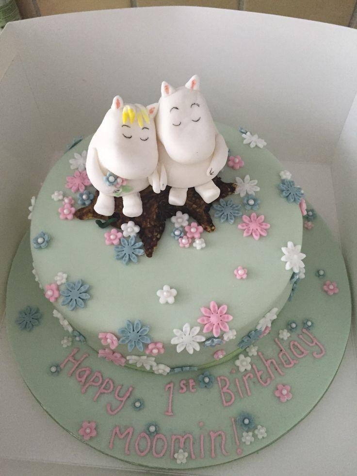 Moomin 1st birthday cake