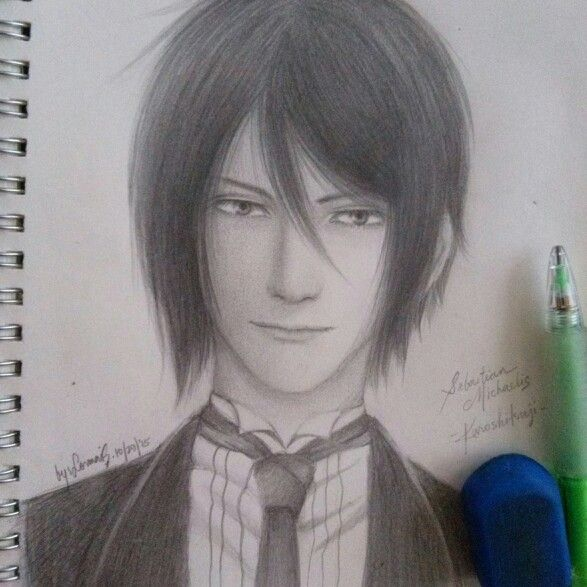 Simply one hell of a butler drawing #sebastianmichaelis #kuroshitsuji #blackbutler #anime #manga #drawing