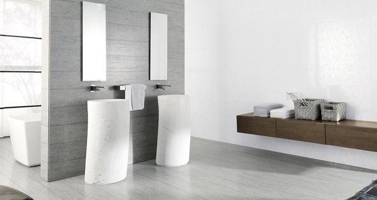 Carrelage en grès cérame grand format (aspect marbre) - STON-KER® / STONE FLAME - Porcelanosa