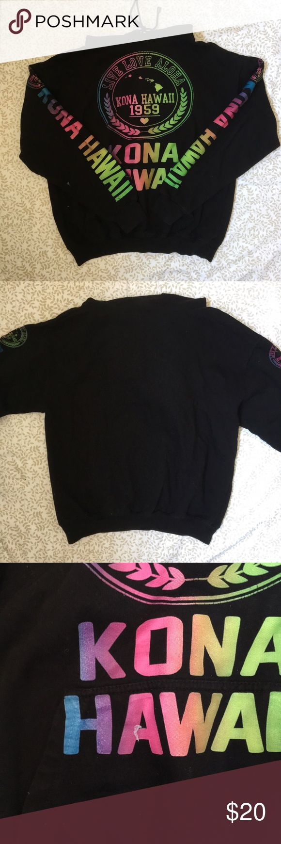 Kona Hawaii Sweatshirt Brought from Hawaii in 2014, barely worn, great condition, super warm, a few small paint stains on the front, hooded, tag was cut off for some reason but it's a size small, listed Superdry for exposure Superdry Tops Sweatshirts & Hoodies