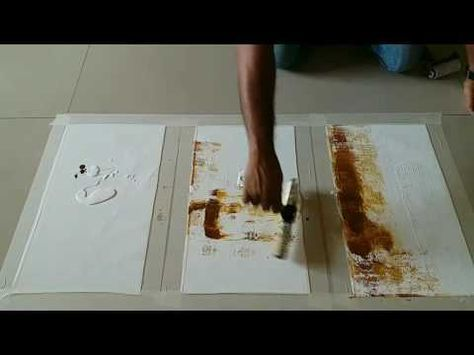 Easy Abstract Painting Demonstration / How to make easy abstract painting in acrylics - YouTube