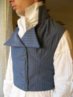 Regency Men's Waistcoat: Tutorial