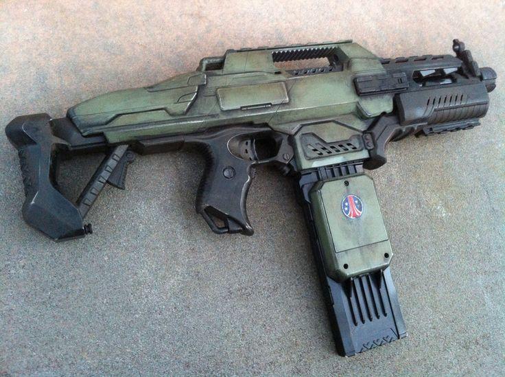Nerf alien m41-a pulse rifle by billy2917 on deviantART