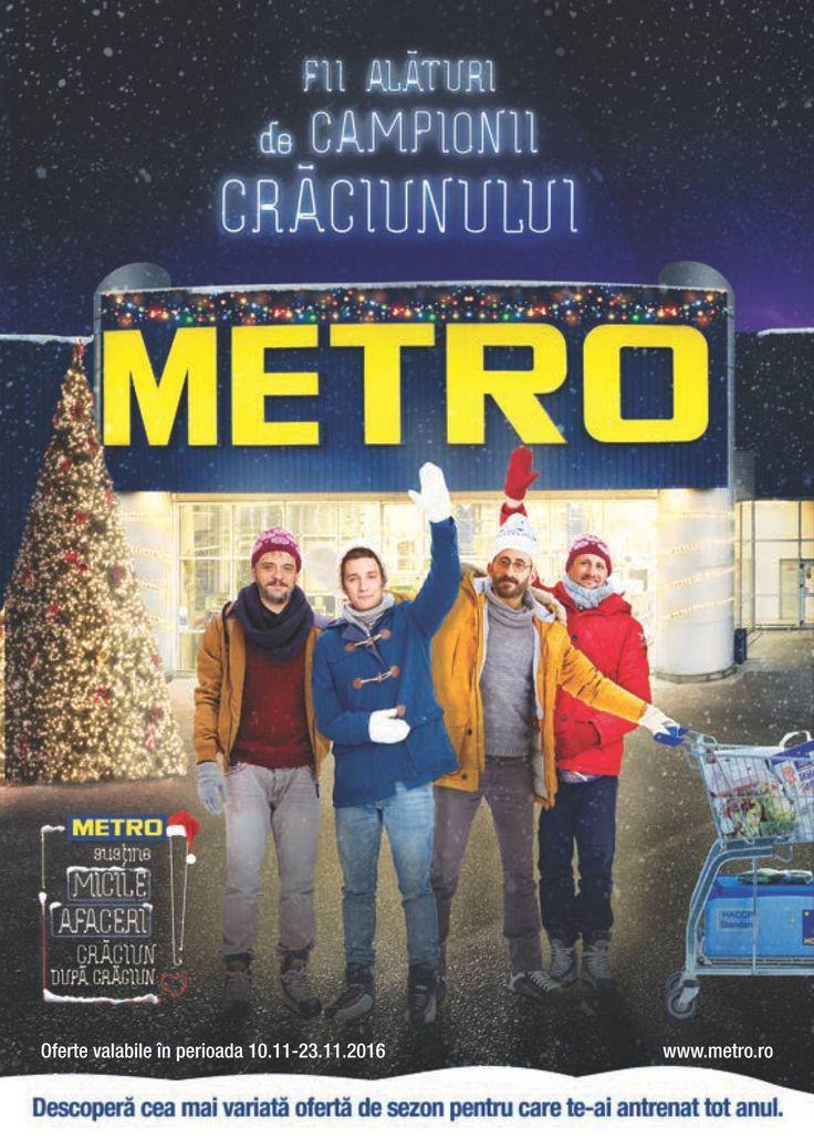 Catalog Metro Decoratiuni pentru Craciun Noiembrie 2016! Oferte: decoratiune Mos Craciun 102 cm, 199,90 lei; decoratiune Om de zapada cu LED-uri