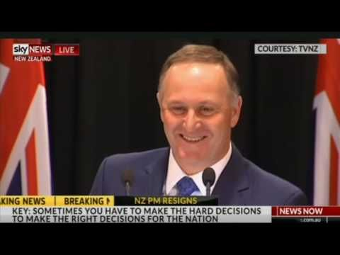 John Key Resigns As New Zealand Prime Minister (Press Conference)