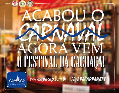 Apacap Paraty  O Festival da Cachaça, Cultura & Sabores de Paraty vai acontecer de 11 a 14 de agosto de 2016.  Já estamos em contagem regressiva!!!  #FestivalDaCachaça #FestivalDaCachaçaParaty #FestivalDaPinga #FestivalDaPingaParaty #cachaça #CachaçaParaty #pinga #festival #música #evento #cultura #turismo #arte #VisiteParaty #TurismoParaty #Paraty #PousadaDoCareca #FestivalDaCachaçaCulturaESabores #FestivalDaCachaçaCulturaESaboresParaty #Apacap #ApacapParaty #PartiuBrasil #MTur