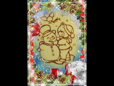 Идея подарка на Новый год - шоколадная открытка своими руками - YouTube