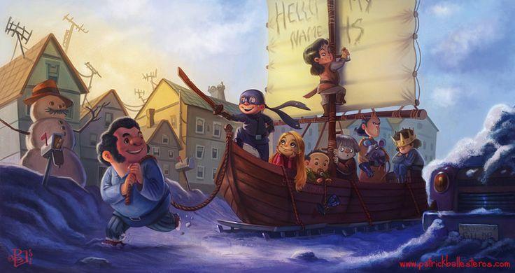 The cast of <i>The Princess Bride</i> love snow days.