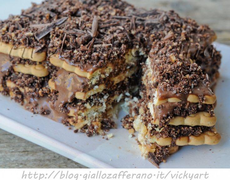 Mattonella dolce con crema al cioccolato   Arte in Cucina