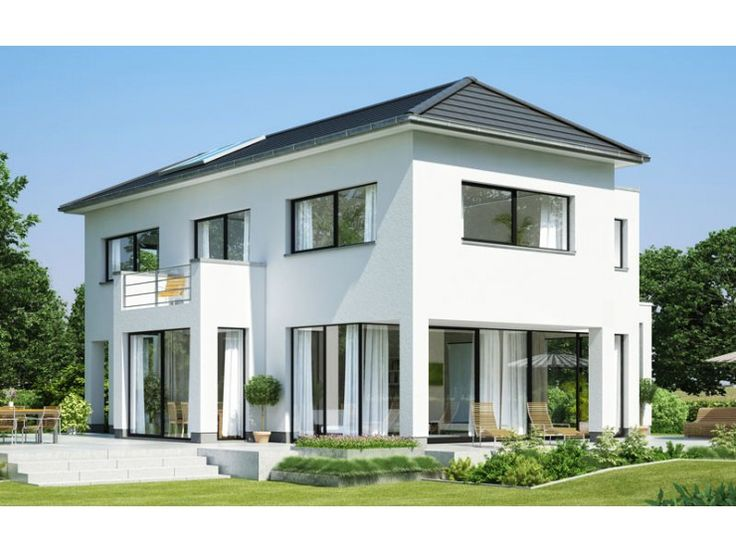 Ber ideen zu walmdach auf pinterest terrassen for Einfamilienhaus modern walmdach