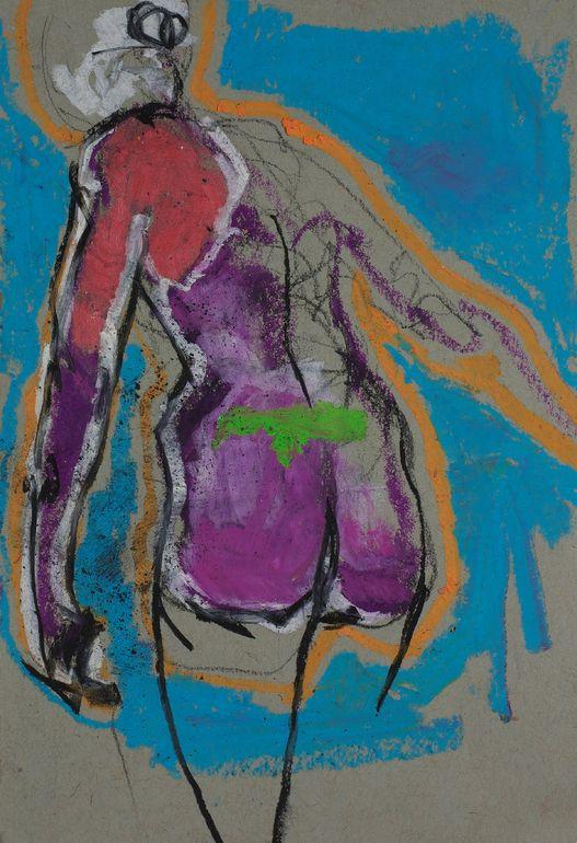 "Saatchi Online Artist: Samuel Bonilla; Charcoal 2013 Drawing ""Corazon Sincero"""