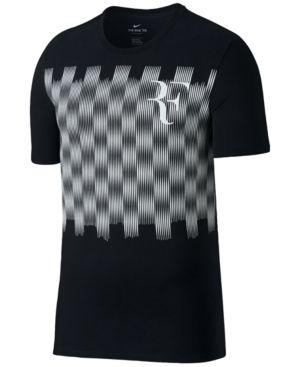 Nike Men's Roger Federer T-Shirt - Black L