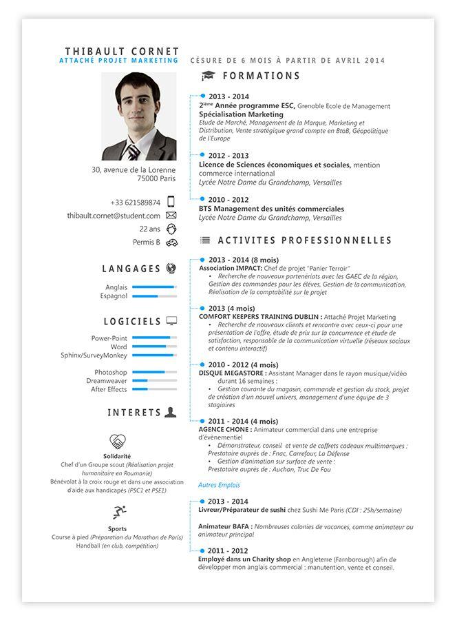 Les 57 meilleures images du tableau Print CV Resume sur - is a cv a resume