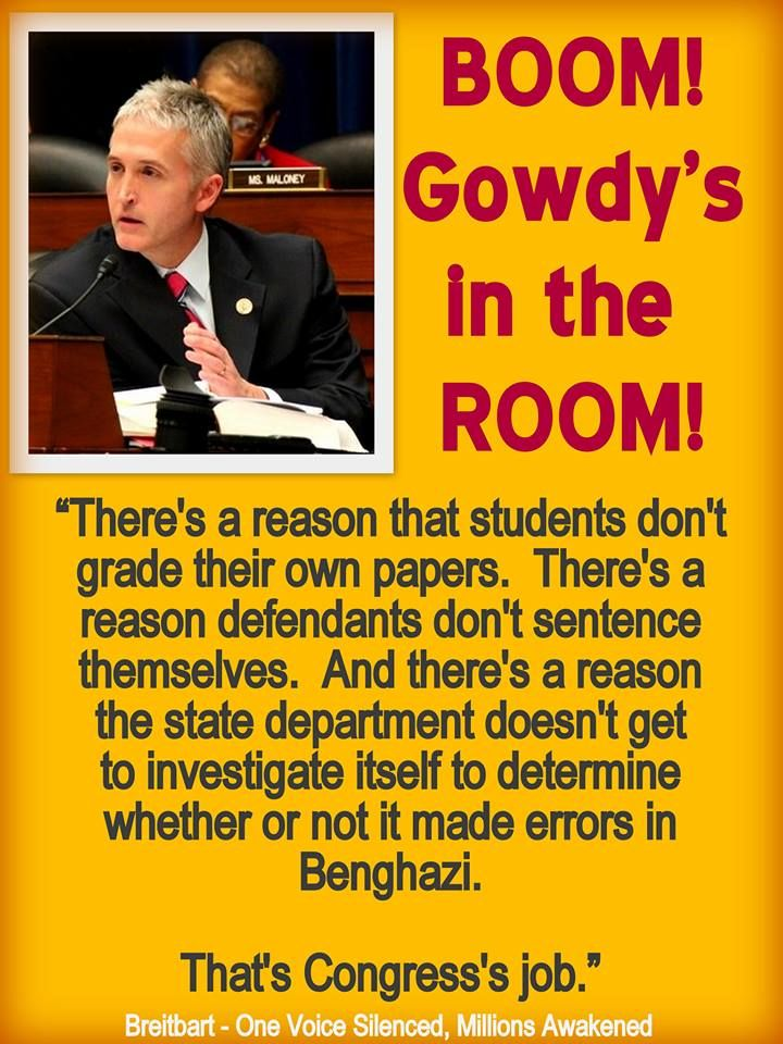 TREY GOWDY Plus, a reason not to let Iraq inspect its own nuclear arsenals. -  Can I just have him for 2016?