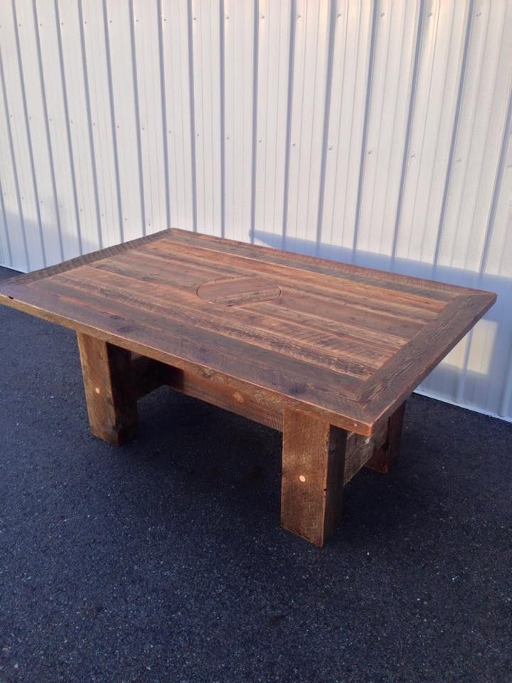 She Is Big Beautiful Barnwood Dining Table Ready To Go To A Loving Home.  Shes No Dainty Girl, With Thick Beam Legs Sturdy Enough ...