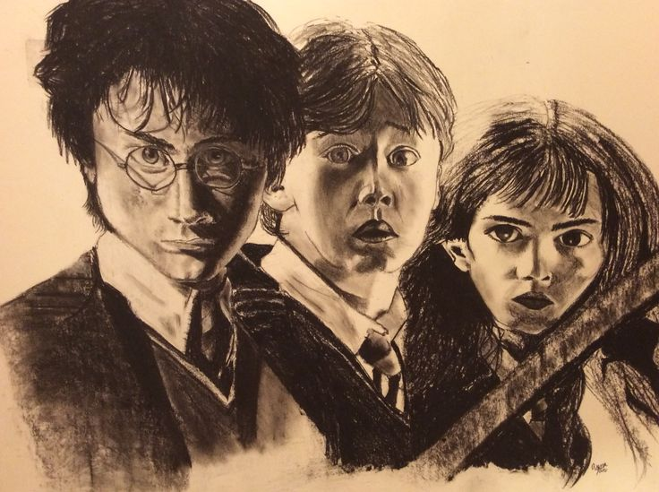 Harry Potter and the Chamber of Secrets - using charcoal By: Anna Fan  http://www.thejc.com/files/imagecache/body_landscape/harry-potter.jpg