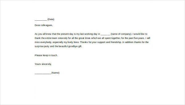 Goodbye Letter Boss With Help Templates Samples Format Farewell Employee Leaving Sample Job Application Goodbye Letter Farewell Letter To Colleagues Lettering