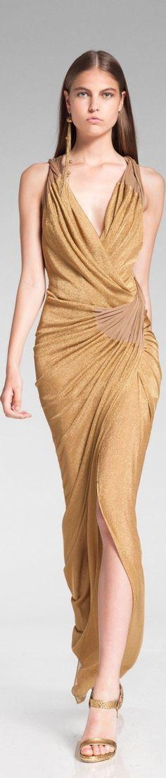 Maxi dress gold zucchini