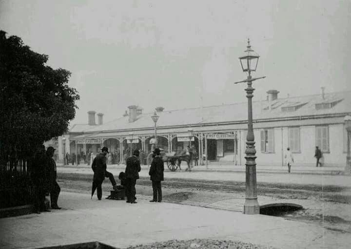 Old Spencer Street Railway Station in Victoria in 1876.A♥W