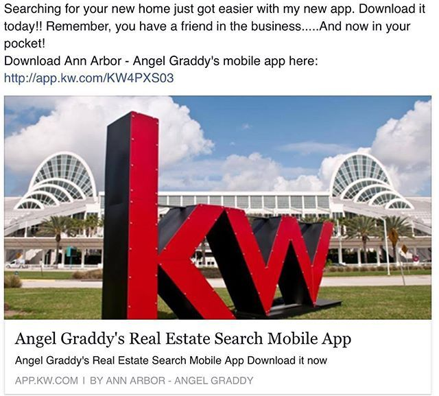 Searching for your new home just got easier with my new mobile app.  Download it today from the App Store or Google Play Store!  Link in my bio!  Remember, You Have A Friend In The Business...and now in your pocket!  #Michigan #MichiganRealtor #Realtor #RealEstate #MobileApp #AngelsAnAgent