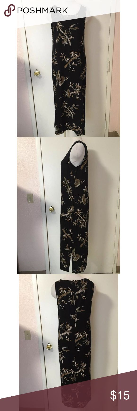 Dress Barn Black Hawaiian Maxi Dress Size 10 Previously Owned. In Good Condition. Size: 10 (Medium) Brand: Dress Barn Material: 75% Rayon 25% Polyester Dress Barn Dresses Maxi
