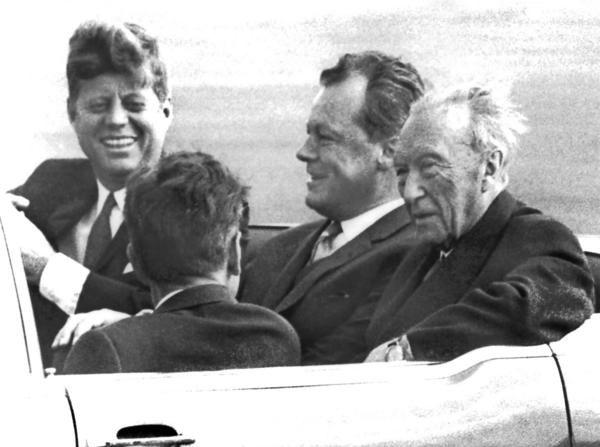 JFK, Willy Brandt, Konrad Adenauer, Berlin, June 1963
