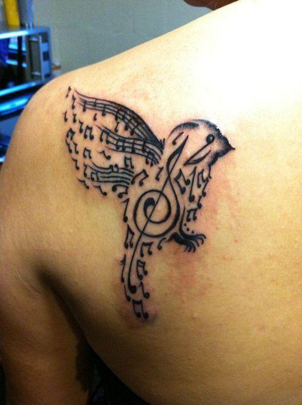 63 exemples de tatouage tournesol en photos - 9 https://tattoo.egrafla.fr/2016/02/08/modele-tatouage-note-musique/